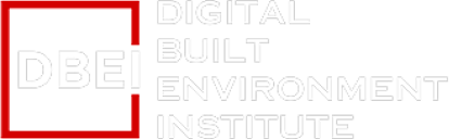 dbei digital built environment institute white branding